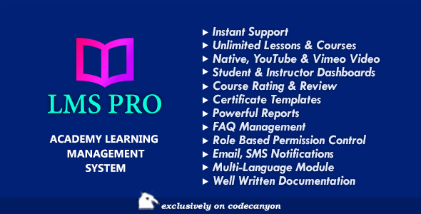 LMS Pro - Academy Learning Management System for Online Courses